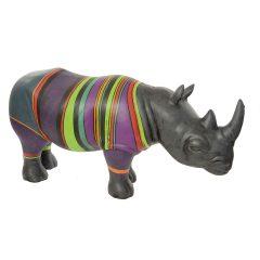 Rhinocéros géant en résine / pièce unique, exposé à l'Hôtel Président Wilson Genève.